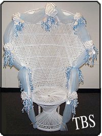 baby shower wicker chair